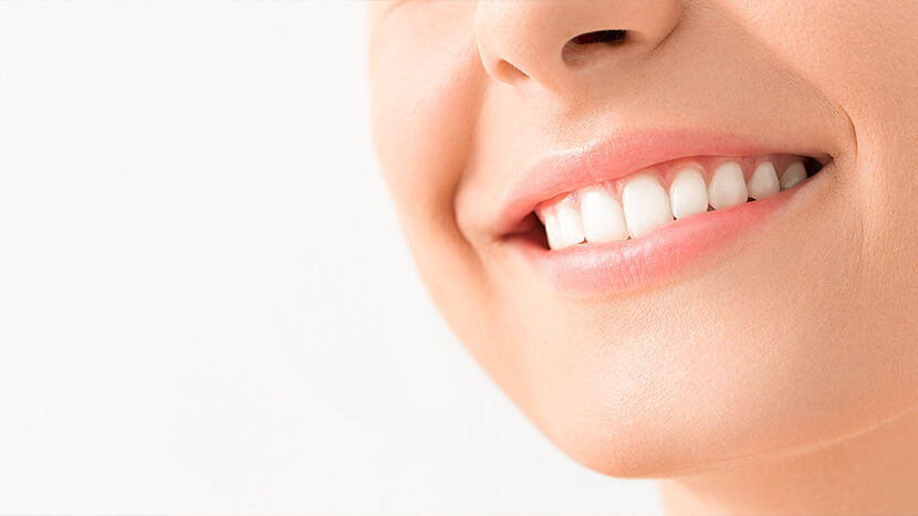 closeup of whitened teeth